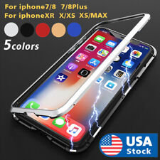 360° Magnetic Adsorption Phone Case Glass Cover For iPhone Xs Max Xr 7 8 Plus US
