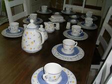 """12 Per.Kaffeeservice Mitterteich """"Isabell blau"""""""
