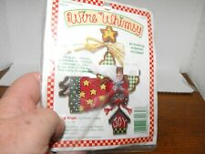 Vintage Counted Cross Stitch Wire Whimsy Christmas Ornament Angel