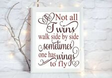 not all twins wings loss baBY loss miscarriage a4 gloss Print picture unframed