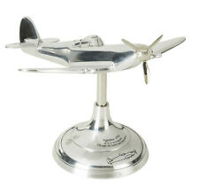 Aluminum Plane WWII Spitfire Trench Art Desk Model 20cm