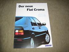 FIAT CROMA opuscolo brochure prospetto di 2/1991