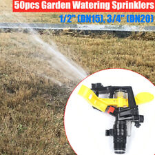 """New listing 50x 1/2"""",3/4"""" Watering Spray Nozzle Irrigation Sprinklers for Garden/Farm/Lawn"""