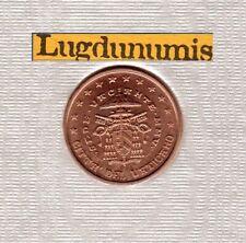 Vatican 2005 1 Centime D'Euro BU FDC Siege Vacant 60000 exemplaires Provenant BU