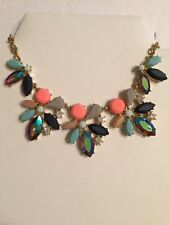 J Crew Factory Asymmetrical clusters necklace NWT