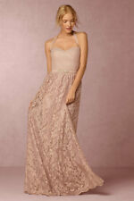 Anthropologie BHLDN Cambria Lace Skirt 4 NIP $225 Blush Wedding/Party Long Skirt