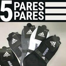 Adidas calcetines caja 5 pares tobillo talla universal hombre-mujer-3 colores
