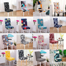 Modern Geometric Elastic Dining Chair Cover Spandex Anti-dirty Kitchen Seat Case