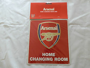 Arsenal FC Decorative Metal ''Changing Room'' Sign - Official Merchandise
