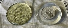 New listing Vintage Large Silvertone Confetti & Diamond Grid Lucite Buttons 127-15