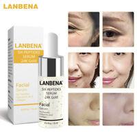 LANBENA Six Peptides Serum 24K Gold Facial Skin Care Anti-Wrinkle Moisturizing