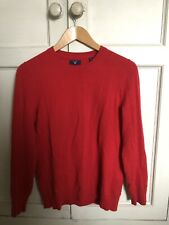 Cashmere Jumper Gant womens long sleeve with embroidery detail MEDIUM £110 RRP