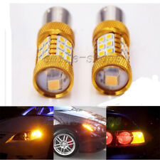 2pcs Amber/Yellow 1156 7506 1156A BA15S 27-SMD 3528 LED Turn Signal Lights DRL