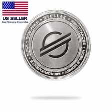 Cryptochips Stellar (XLM) Physical Crypto Collectable Coin Silver Color
