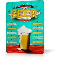 Metal Tin Sign Beer 10 Facts Nectar Of God Retro Vintage Funny Decor Home Poster