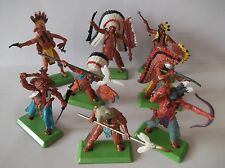 BRITAINS DEETAIL  INDIANS FULL SET OF 8 poses cat no-7540
