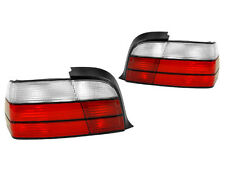 92-99 BMW E36 2DR COUPE CABRIO EURO RED/CLEAR TAIL LIGHTS REAR LAMPS TAILLIGHTS
