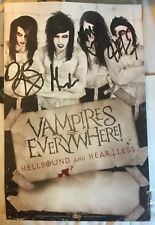 Band Vampires Everywhere Signed Rare Tour Poster Hellbound And Heartless