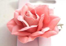 Nuevo 4 cm Oscuro Tela Durazno Clip de Pelo Horquilla Flor Rosa Moda para Mujer