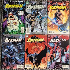 Lot x 6 Batman 614 615 616 617 618 619 1st Hush DC Comics 2002 Jim Lee HI GRADE