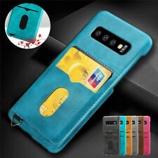 For Samsung Note 10 Plus S10e S9 Card Slot Leather Back Wallet Holder Case Cover