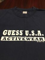 Vintage 90's GUESS USA Activewear 1994 Mens Spell Out T Shirt Extra Large XL