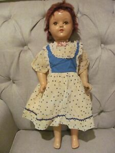 Vintage Jointed Doll Full Body Composition Fully Jointed, Sleep Eyes 21""