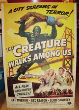 "Movie Poster The Creature Walks Among Us 1956 Trimmed One Sheet 27""x40"" VF-7"