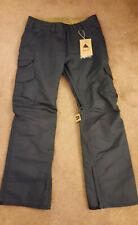 Men's Burton Cargo Snow Pants Size Small Blue Indigo $169 NEW!!!