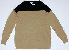 New Womens Maternity Long Sweater Tan Black Liz Lange Neck NWOT Size Sz XL XXL