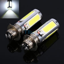 2x 6000K White H6M COB LED Motorbike/ATV Headlight Fog Light PX15d P15D25-1