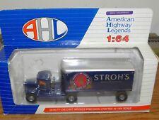American Highway Legends 1;64 Stroh's Beer Diecast Mack Model BM Semi-truck NIB
