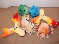Bundle 6 Giant Microbes soft plush figure toy Crabs Chlamydia common cold lice