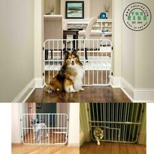 "Tuffy Expandable Gate with Small Pet Door 24"" H x 26- 42"" W x 1"" D Beige 0624Ds"