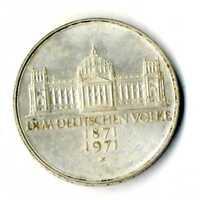 Moneda Alemania 1971 5 marcos  plata .625 silver coin Deutsche