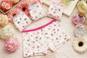 Girls Boxer Shorts 4 Pack Underwear Briefs Cotton Knickers Age 2 4 5 6 7 8 9 Yrs