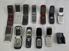 12 Flip Phone / slide phone/ Cell Phone Lot For Parts ( Lg Samsung Motorola etc)