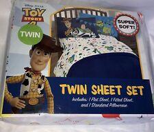 Disney Pixar Toy Story 4 /White 3 Piece Twin Sheet Set