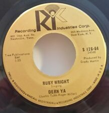 "Ruby Wright RIC s/26-64 ""DERN YA"" (GREAT ROCK & ROLL) MAKE OFFER"