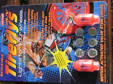24 RED COOL TIREFLY LIGHTS FOR YOUR WHEELS 12PKG TOTAL 24 LITES MOTION ACTIVATED