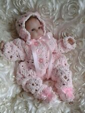 Beautiful hand knitted baby outfit / Baby Romper Set  / Early Baby /  Premature