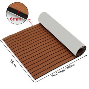 EVA Foam Teak Sheet Marine Flooring Yacht Boat Car Decking Self-Adhesive Pad mat