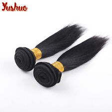 "2Bundles 8"" Unprocessed Brazilian Straight Hair Extension Human Weave weft 100g"