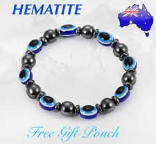Natural Hematite Stone Magnetic Bead Bracelet Anti-Stress Anxiety Worry Gift
