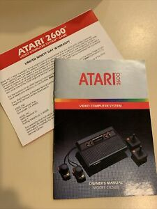 Atari 2600 Model CX2600 System Console Instruction Owners Manual Booklet
