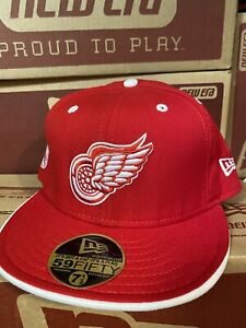NHL Red Wings Hat 7+1/2 Vintage '04 New Era Wool Cap *New Old Store  Stock*NWT