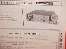 1965 RAYTHEON CB RADIO SERVICE SHOP MANUAL MODEL RAY-TEL TWR-5