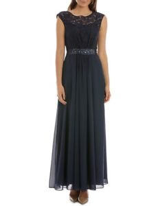 Wayne Cooper Event Midnight Lace Bodice Dress (Size 10) (Brand new with tags)