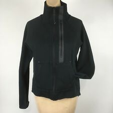Nike Lab Womens Sz Medium Jacket Black Tech Fleece Moto Zip Front Thumb Holes