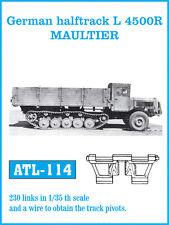 FRIULMODEL METAL TRACKS GERMAN HALFTRACK L4500R MAULTIER Scala 1/35 Cod.ATL-114